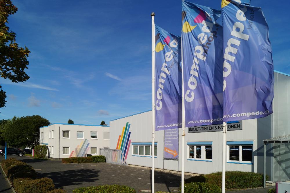 Die Compedo Zentrale in Iserlohn, NRW.