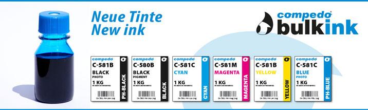 Neu: Tinten für Canon CLi-581 & PGi-580